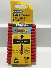 100 PLASRP502 SRP 502 Solid Wall Super Grips� Fixings Red
