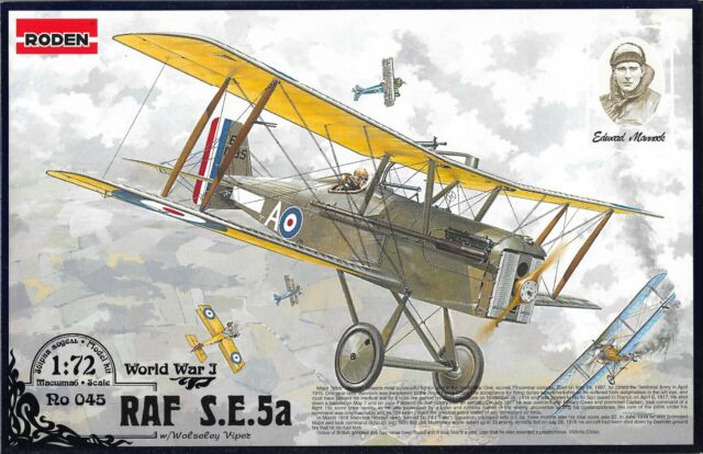 SE.5a 1918  British Fighter Aircraft WWI Military Model Diecast 1//72 No 21
