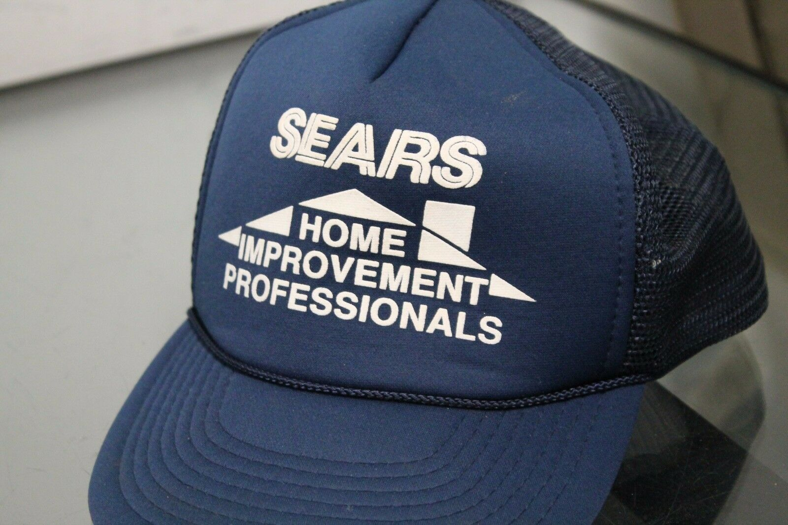 Speedway Home Vintage Sears Home Speedway Improvement Hat Cap Strap Back Blue Grid Adjustable 06f839