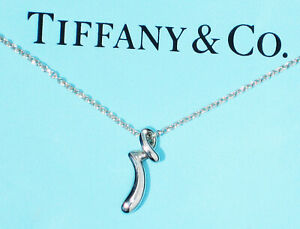 b6cfcdfa191d3 Details about Tiffany & Co Sterling Silver Elsa Peretti Alphabet Letter  Initial R Necklace