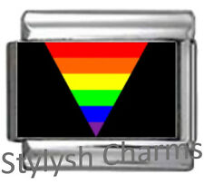 GAY PRIDE TRIANGLE Photo Italian Charm 9mm - 1 x NC311 Single Bracelet Link