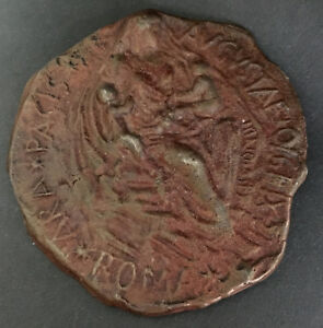 ROTARY-ROMAN-STYLED-BRONZE-MEDAL-for-CONGRESSO-REGIONE-ENAEM-1970-MADONNA-ROME