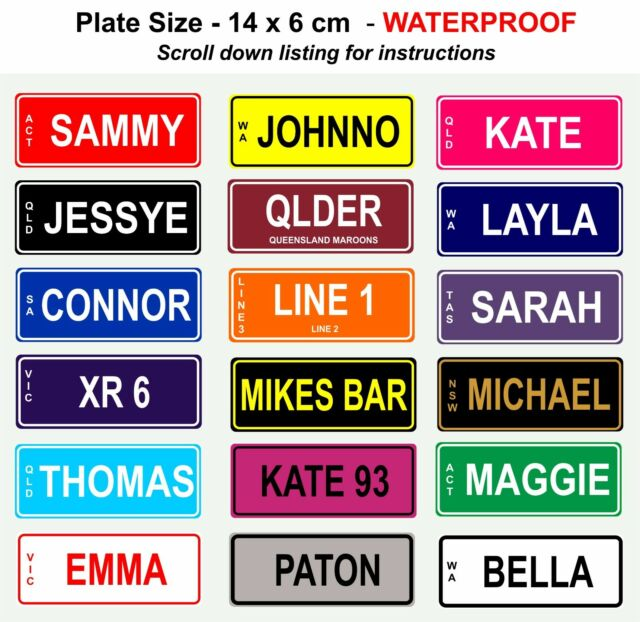 NOVELTY PERSONALISED KIDS BIKE MINI NUMBER PLATE LICENCE SIGN BIRTHDAY XMAS GIFT