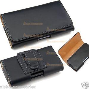 Clip-Cinturon-Aro-Pistolera-de-Cadera-Libro-Cuero-Funda-para-Varias-Telefono-HTC