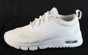 Details about Nike Air Max Thea youth kids shoes sneaker white laces low top size 11C