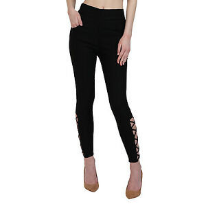Vipakshi Women's Black Lycra Cotton Stylist Jeggings (JE-12 K)