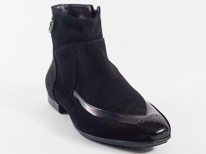 New  Cesare Paciotti Black Suede Boots US 8.5 Retail $ 695
