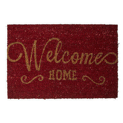 Welcome Home Heavy Duty Coir Non Slip PVC Back Washable Entrance Floor Doormat