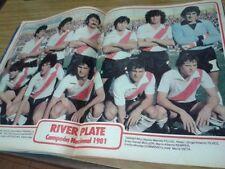 RIVER PLATE CHAMPION 1981- RARE Magazine + POSTER - BOCA MARADONA