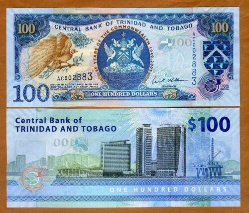 100 dollars Trinidad and Tobago UNC /> Commemorative 2009 P-52