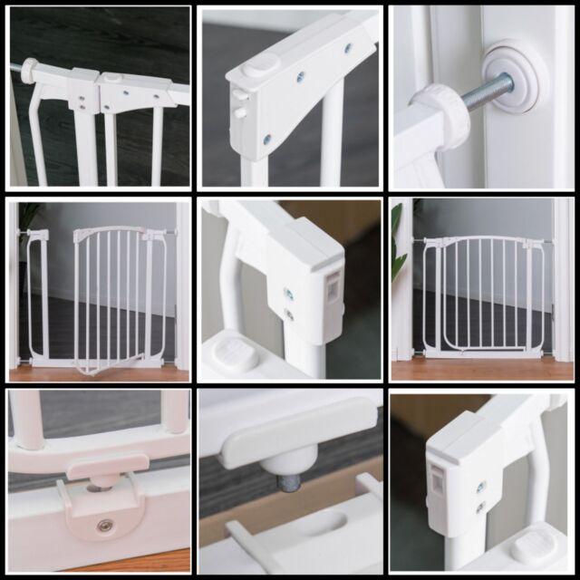 Indoor Dog Gate Pet Cat Door Fence Adjustable Kids Baby Barrier