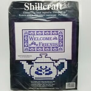 Counted-Cross-Stitch-Kit-Yorktowne-Welcome-Friends-Pfaltzgraff-Teapot-4409P
