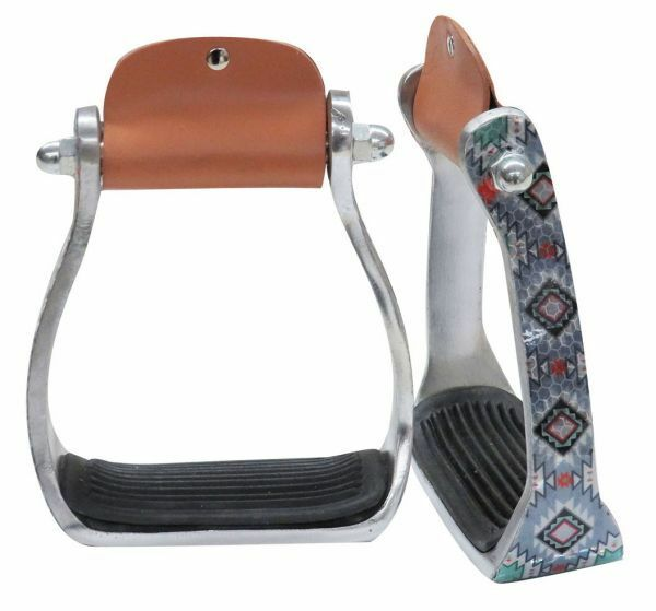 Showman  Shimmering Navajo Print Western Aluminum Stirrups  selling well all over the world