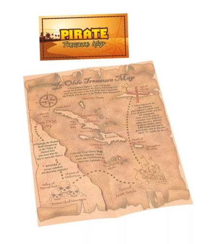 TREASURE MAP NEW PIRATE  PARTY BAG TOY PROP FANCY DRESS COSTUME ACCESSORY