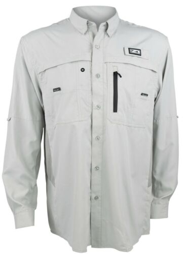 Pelagic Eclipse 2.0 Long Sleeve Performance Guide Shirt Light Grey $79