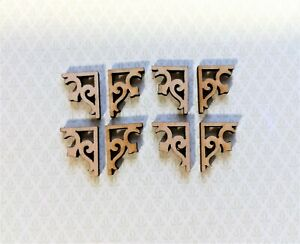 Dollhouse Miniature Squirrel Corbels or Brackets 1:12 Scale Set of 4