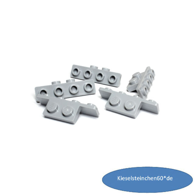 LEGO 8 Stk 1 x 2-1 x 4  Konverter Winkel neu hellgrau 10201 6014615   NEU