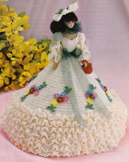 LOVELY Garden Party Fashion Doll Dress/Crochet Pattern INSTRUCTIONS ONLY