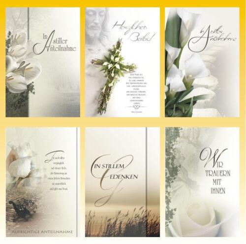 100 Trauerkarten Trauerkarte Trauer Beileidskarten Kondolenzkarten 816650 HI