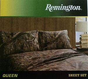 Etonnant Image Is Loading Remington Camouflage Bed Sheets Amp Pillowcase Set Queen