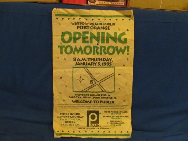 PUBLIX SUPERMARKET GRAND OPENING NEWSPAPER AD JAN 5 1995 ...