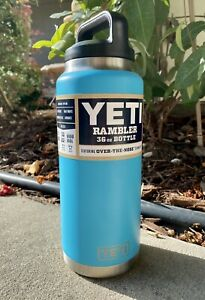 RARE-Yeti-36oz-Rambler-Insulated-Vacuum-Bottle-Reef-Blue