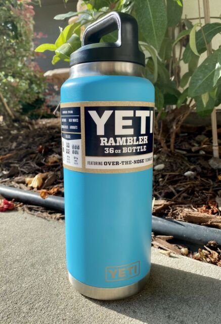 RARE Yeti 36oz Rambler Insulated Vacuum Bottle - Reef Blue