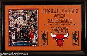 f9d12dd0550 Framed Michael Jordan UD embossed Auto 8x10 Last shot as a BULL a ...