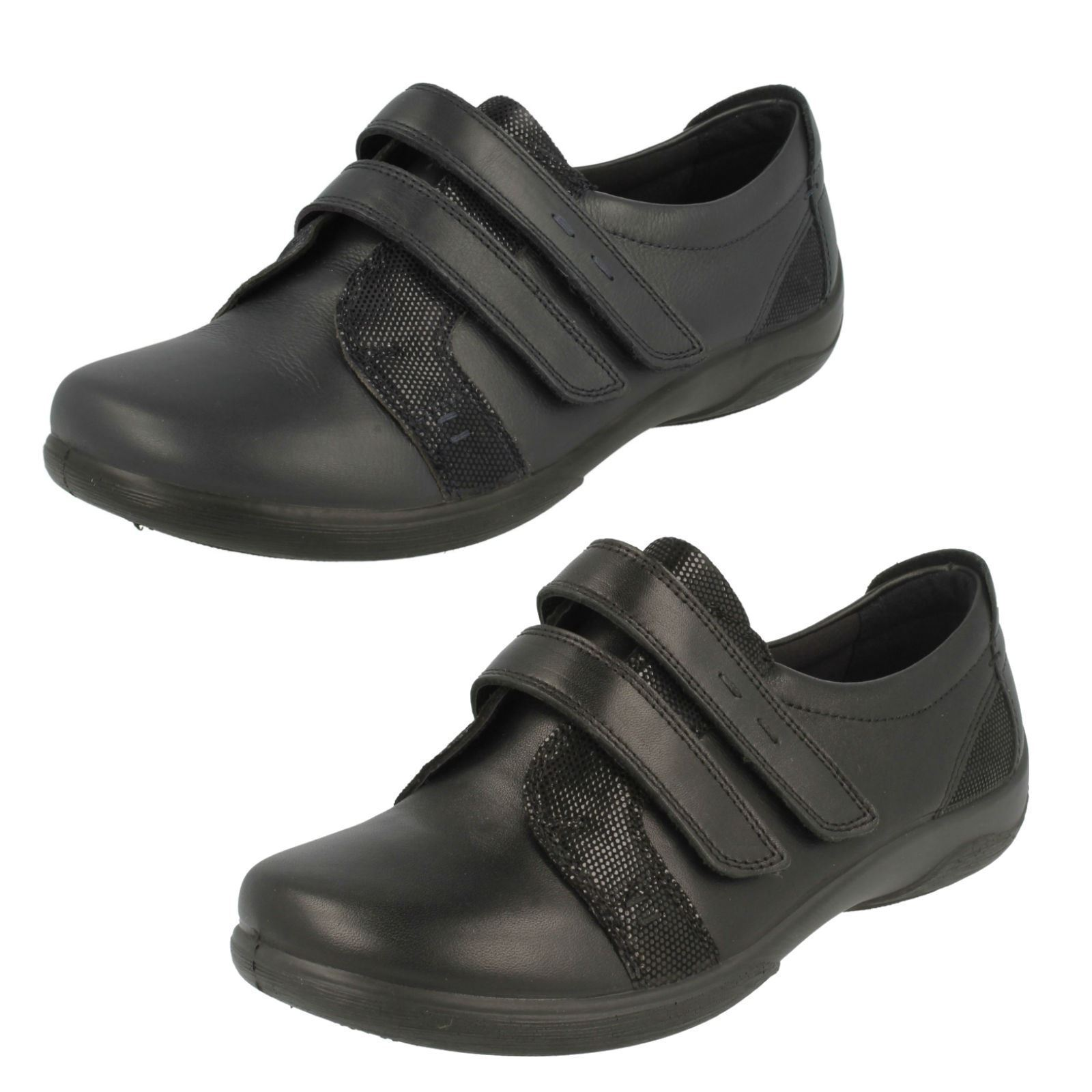 Casual salvaje Descuento por tiempo limitado Ladies Verse Leather Dual Fit Hook & Loop Fastening Shoe By Padders 65.00