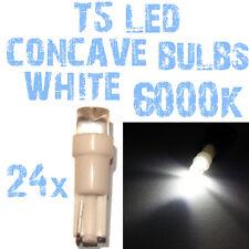 N° 24 Gloeilampen LED T5 Wit 6000K Concaaf Koplampen Angel Eyes DEPO FK 12v 2E4