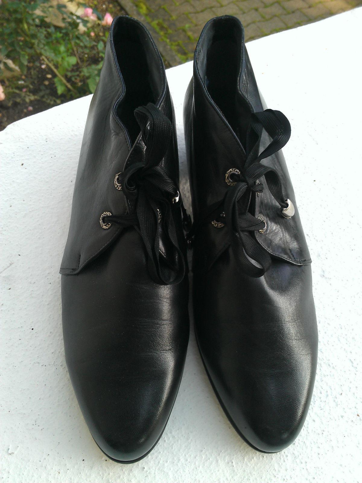 Gr. 8,5 42 ? Schwarze Schuhe NEU Halbschuhe gefüttert LEDER  Marke K& S edel