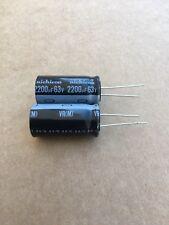 10pcs Radial Electrolytic Capacitor 2200uF 35V 85°C Pitch 7.5mm 16x31mm Nichicon