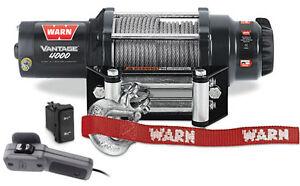 Details about Warn Vantage UTV 4000 Winch w/Mount Polaris FullSize Dies  Ranger 1000 Crew 15-17