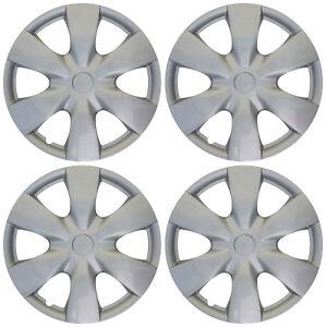 "4pc Hub Cap ABS Silver 15"" Inch for OEM Rim Wheel Skin Replica Cover Covers Caps"