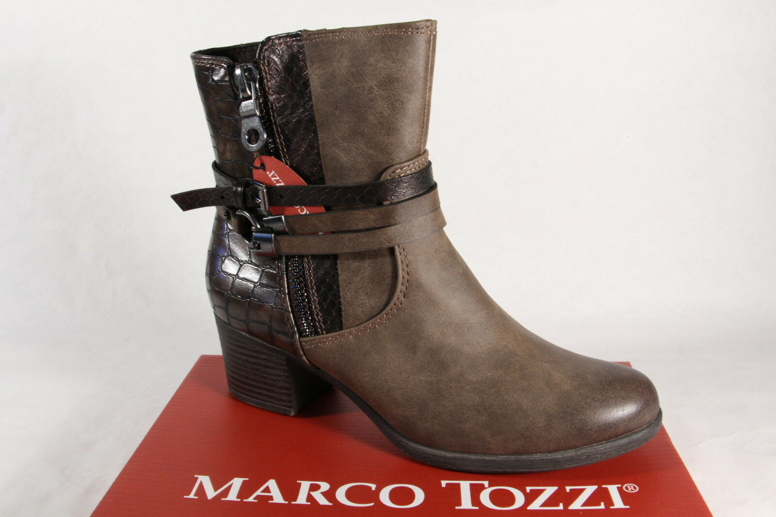 Marco Tozzi señora botas botín nuevo botas marrón nuevo botín 7d828e