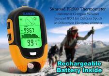 Sunroad Multifunction LCD Digital Altimeter Barometer Compass Clock Thermometer