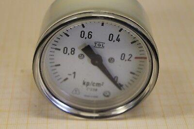 Manometer 0-250 kPa ~0-2,5 bar Ø 60 mm M12x1,5 Anschluss hinten #AS-L