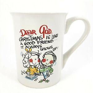 Details about Dear God Kids Coffee Mug Cup Christmas Is Like A Good Friend
