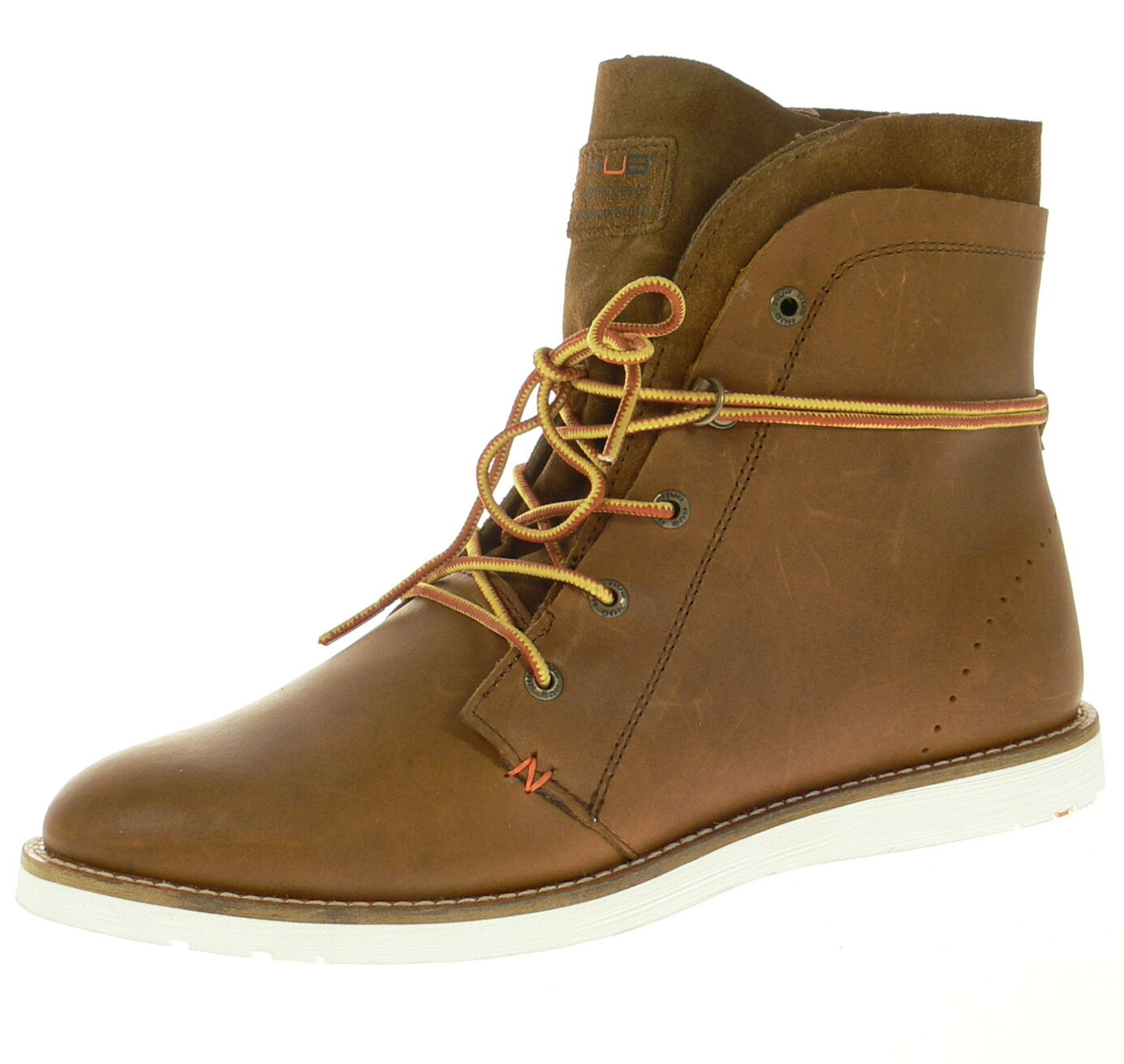 HUB Footwear Herrenschuhe TVR LN Brown Echtleder Winterschuhe NEU SALE Gr. 45