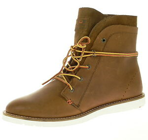 HUB-Footwear-Herrenschuhe-TVR-LN-Brown-Echtleder-Winterschuhe-NEU-SALE-Gr-45