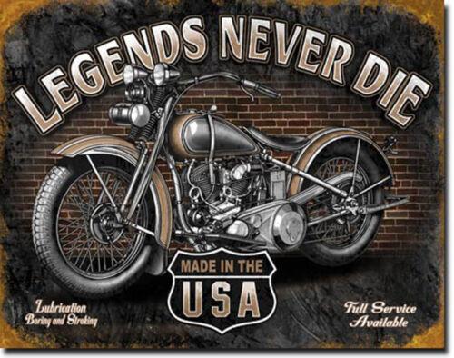 * Vintage Biker Harley-Oldtimer-Motiv Motorrad Deko Garage Shop Schild *987