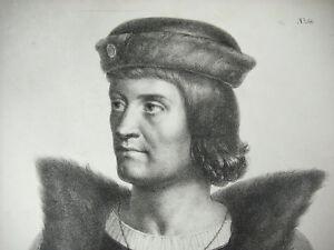 HonnêTe Antique Print Louis Xii Le Père Du Peuple Roi De France C1850 Les Valois Orléans éLéGant Et Gracieux