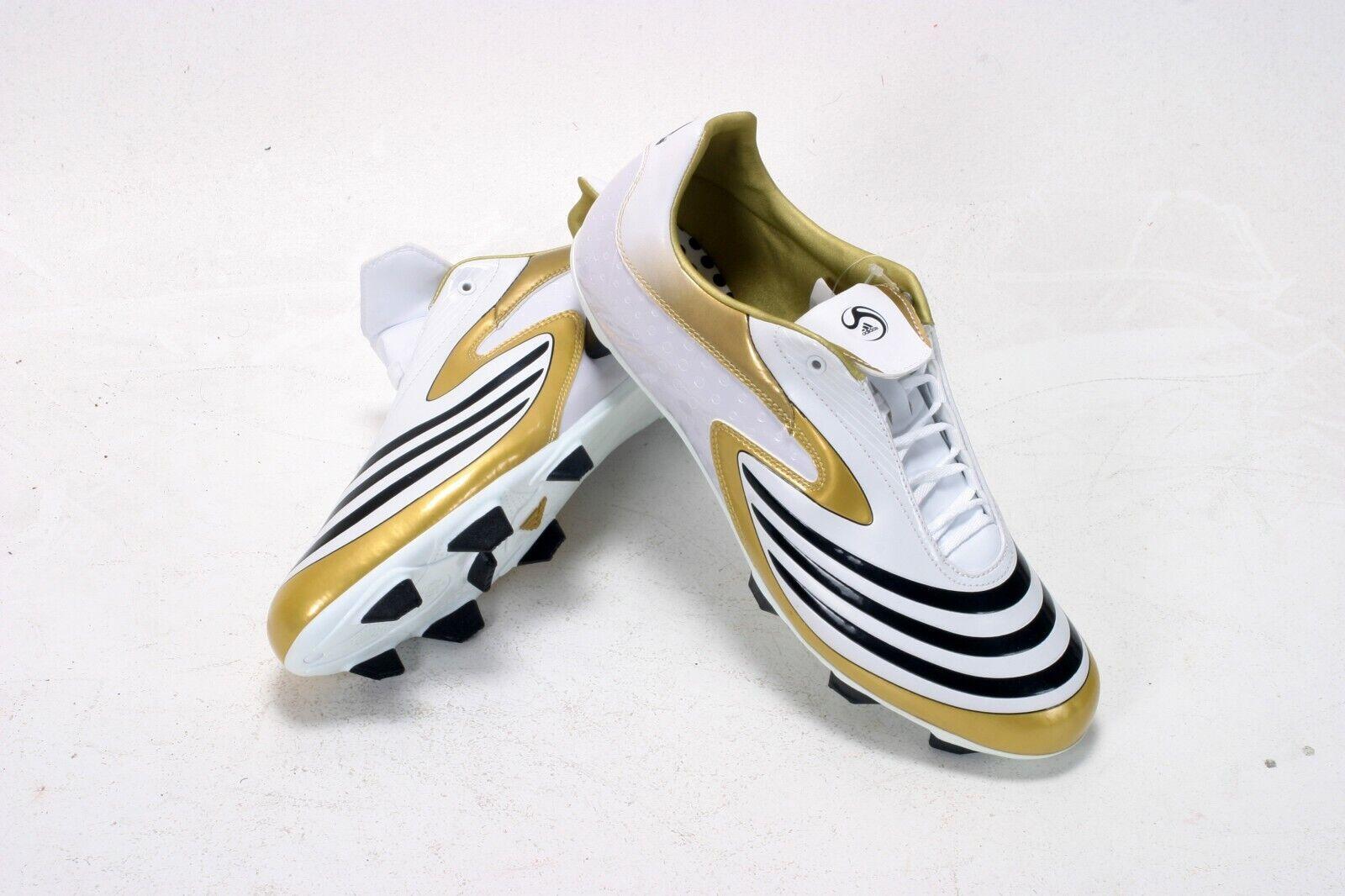 Raro Adidas F10.8 TRX botas De Fútbol Sg blancoo Dorado10.5 EU45 Nuevo Y En Caja 652059