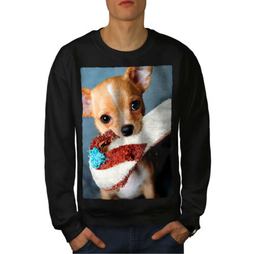 Wellcoda Chihuahua Photo Homme Sweat holding Casual Pullover Pull