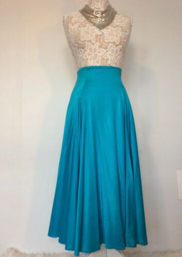 Norma Kamali Omo Vintage Blue Skirt 1980's