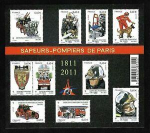 Bloc-Feuillet-2011-N-F4582-Timbres-France-Neufs-Sapeurs-Pompiers-de-Paris