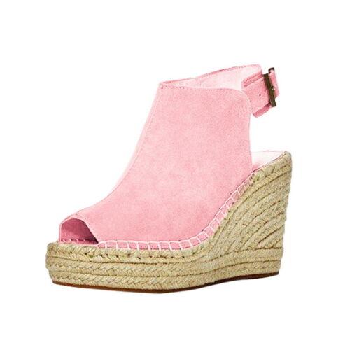 Damen Pumps Sandalen mit Blockabsatz Peep Toe Riemchen Keilabsatz Sommerschuhe