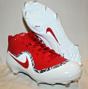 d4c8bc1c980 Nike Force Air Trout 4 Pro Metal Baseball Cleats SZ 10 Red White ...