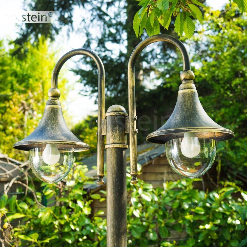 Kandelaber Wege Lampen Garten Aussen Steh Leuchten Außenstehlampe Gold schwarz