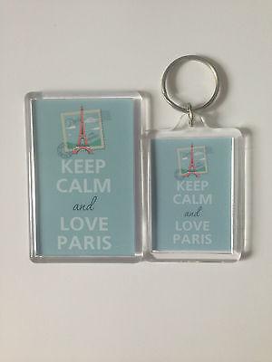 Keep Calm And Love Piggies Keyring or Fridge Magnet = ideal gift idea